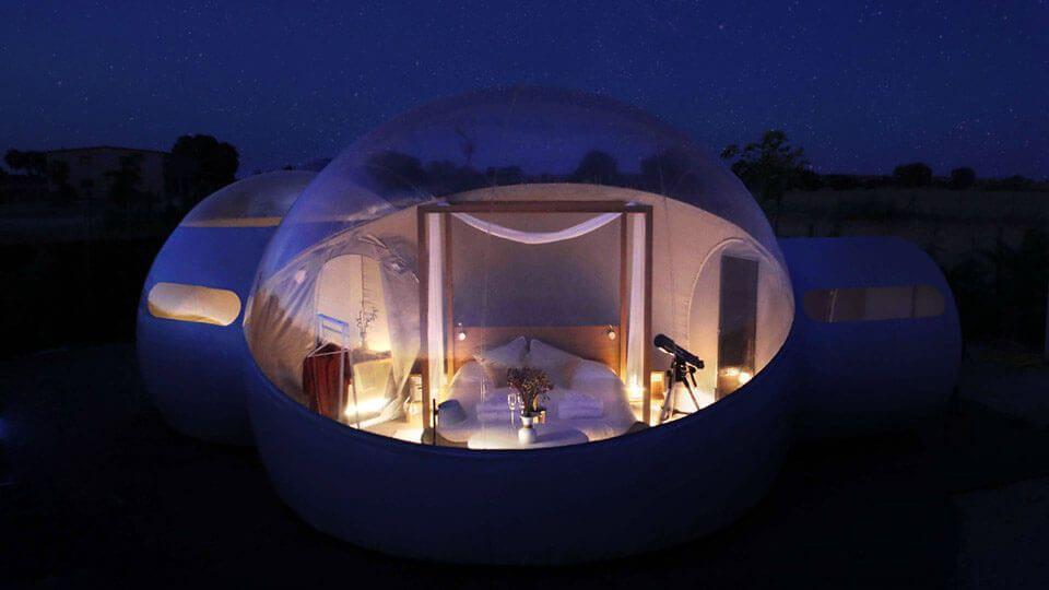 Profitez du cosmos dans votre chambre à bulles comme un observatoire astronomique