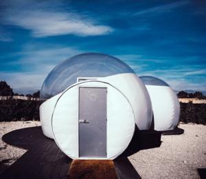 Uno de los mejores lugares para descansa es en un hotel burbuja