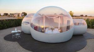 Hotel burbuja en barracas del Burujón