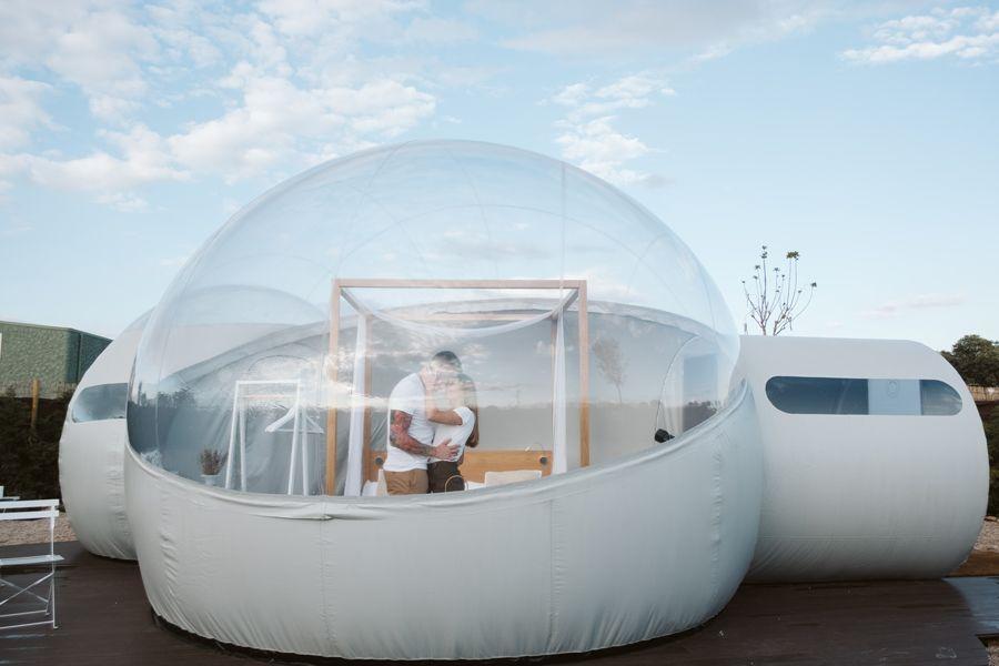 regalo romantico hotel burbuja miluna